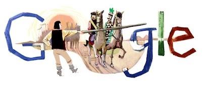 Ez a doodle Arany Jánosnak állít emléket, a Toldi c. elbeszélő költeményének egy jelenetét ábrázolja.