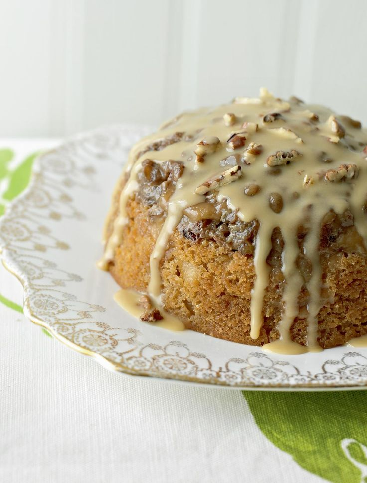 Mary Berry's Toffee Apple & Pecan Pudding - The Happy Foodie