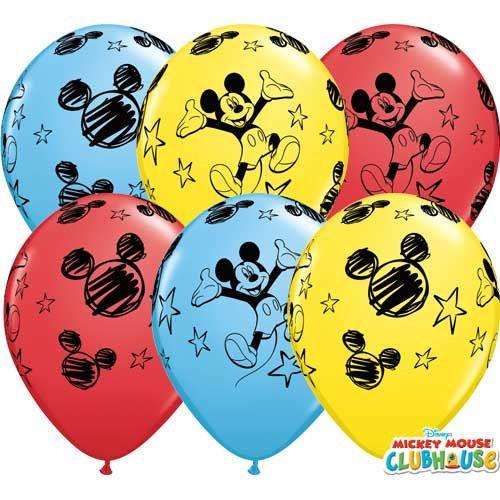 Een kleurrijke selectie van Mickey Mouse thema ballonnen, dat zou geweldig zijn voor elke partij! Deze ballon 11 inch worden geleverd in een assortiment van geel, rood en bleke blauwe ballonnen met een cartoon Mickey Mouse ontwerp. -------------------------------------------------------------------------------------------------------------------------------------  ☆ Het ontwerp: en inhoud  Verpakkingen van 6 Grootte: 11 inch Materiaal: Latex   Geschikt voor zowel lucht- en hellium inflatie…