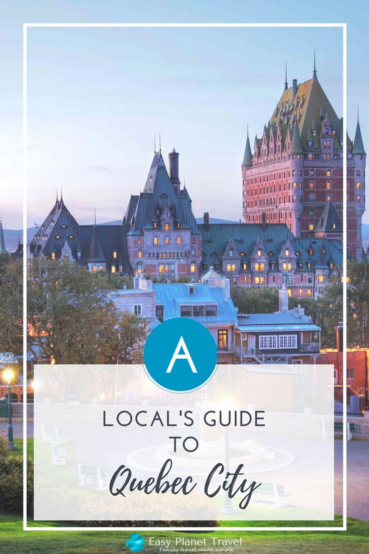 The best travel itinerary for your next family vacation or holiday in Quebec City, Canada Happy pinning!