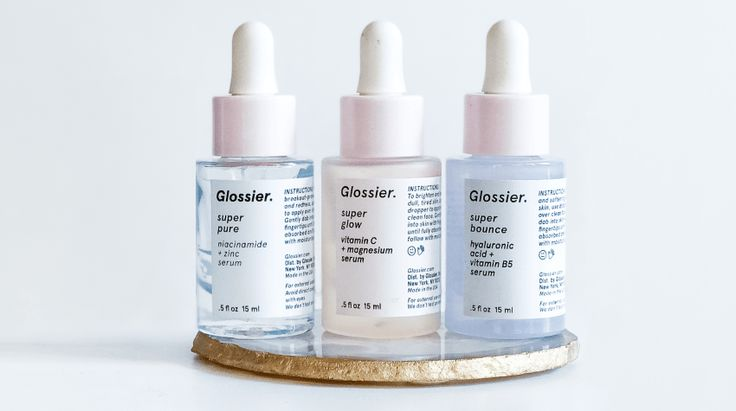 glossier serum review: super pure, super bounce, and super glow.