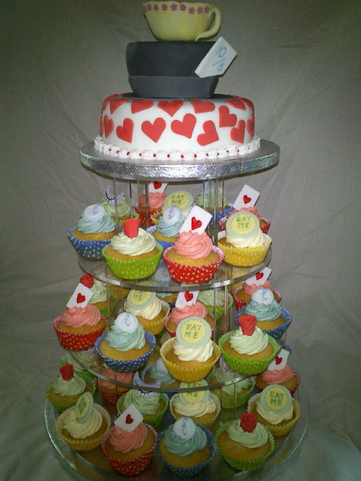mad hatter cupcakes - photo #17