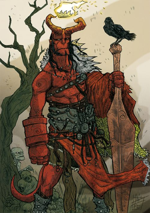 Hellboy the King by Fredric Pham Chuong