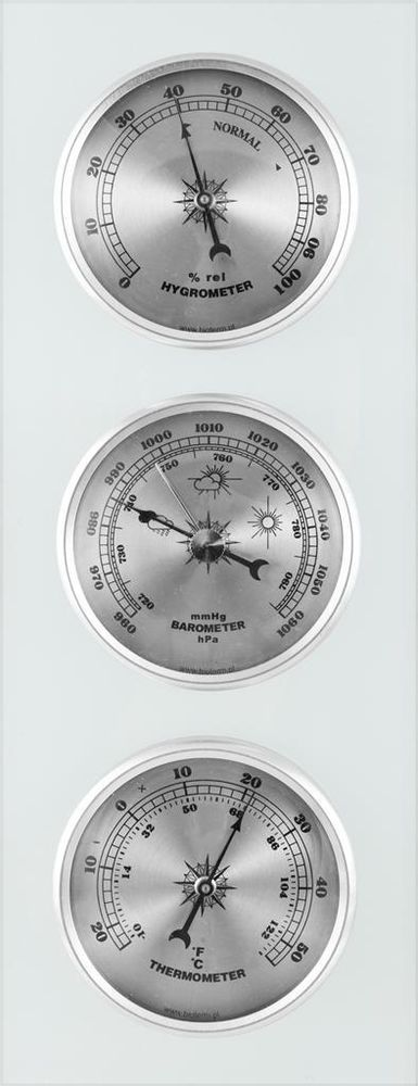 Wall Weather Station Barometer Thermometer Hygrometer On