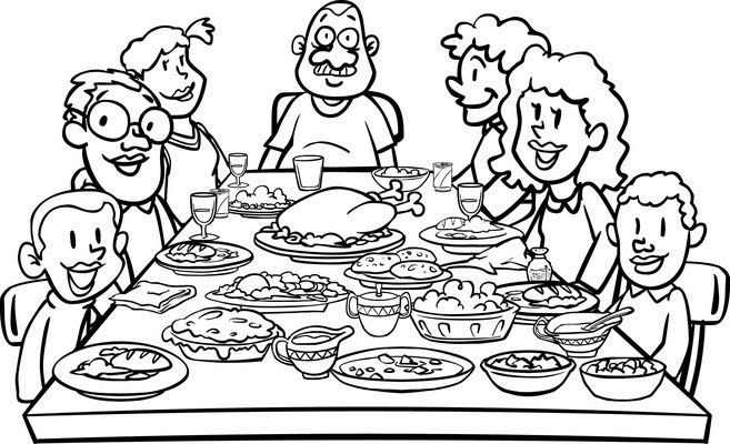 Fellowshiped Clipart Family Dinner Table 580 Family Dinner Table Clip Art Table Sketch