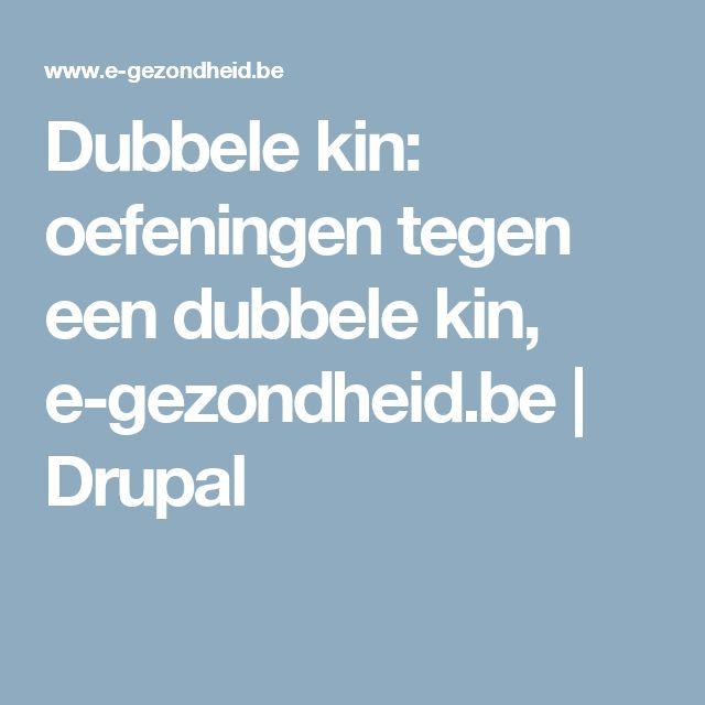 Dubbele kin: oefeningen tegen een dubbele kin, e-gezondheid.be | Drupal