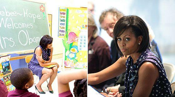 Where: Ferebee-Hope Elementary School in Washington DC to meet with the Communities In Schools board members. What: Lanvin  2009 resort dress.