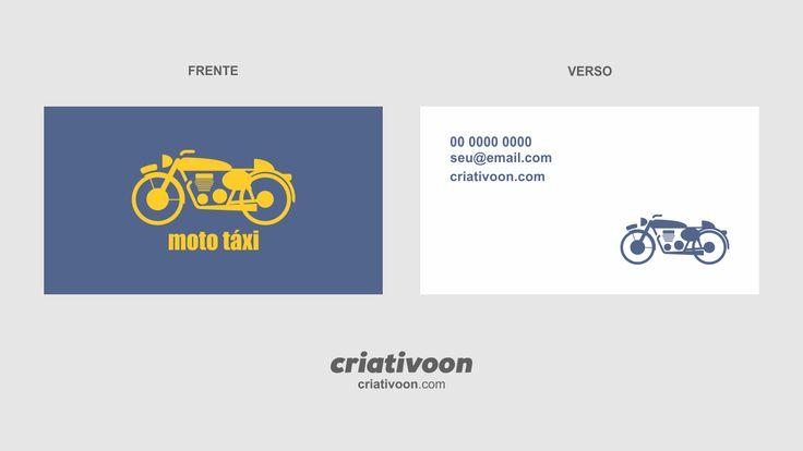 Cartão de visita moto táxi