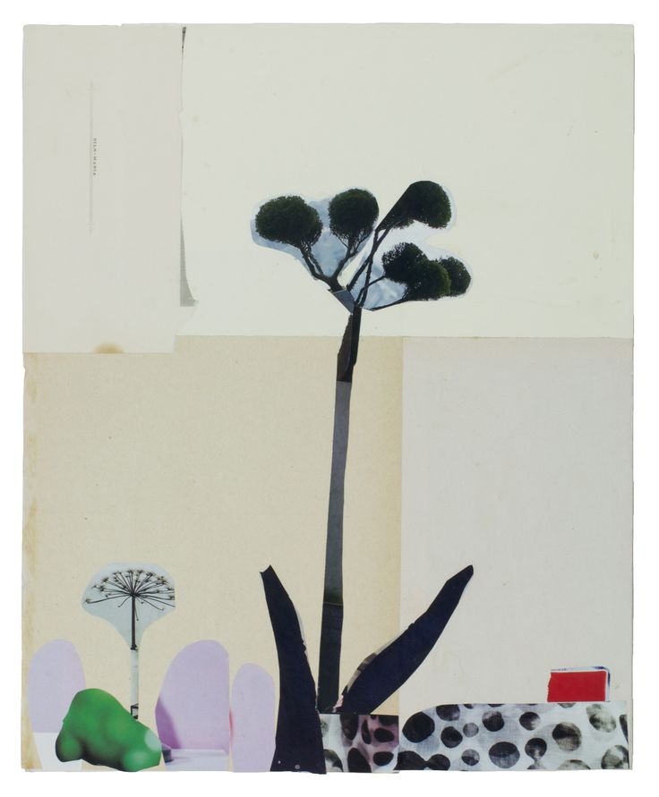 Anke Roder 'Plant' 2015 collage 31 x 25 cm