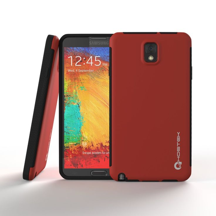 Ghostek Blitz Samsung Galaxy NOTE 3 Red Case W/ Attached Screen Protector | Lifetime Warranty