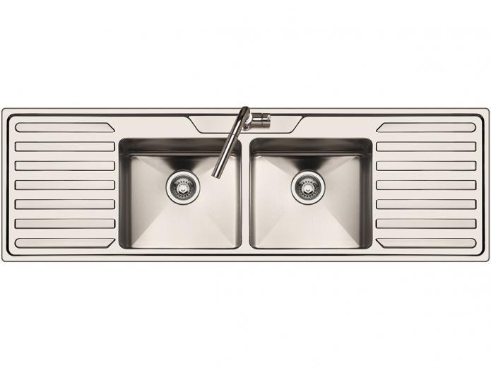 AFA Cubeline Double Bowl Inset Sink