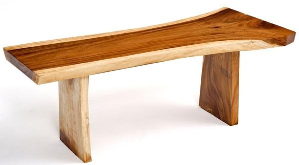 Natural Wood Furniture Slab Bench Design 3 Item