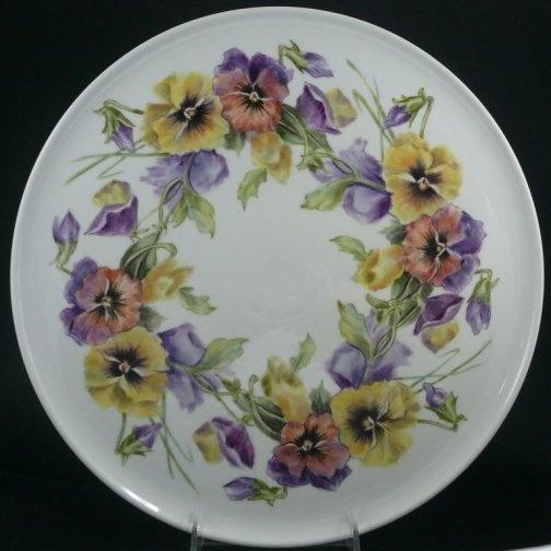medium:  overglaze mineral paints on porcelain, artist unknown