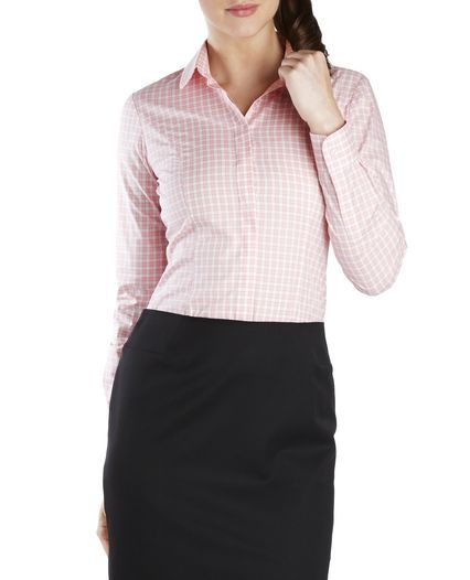 Fitted Pink Check Shirt, , original