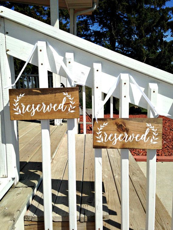 Hey, I found this really awesome Etsy listing at https://www.etsy.com/listing/231301819/reserved-sign-reserved-signs-for-wedding