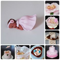 Learn how to make these cute fondant or gumpaste baby toppers