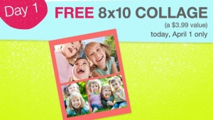 Walgreens Photo is once gain hosting 7 Days of Photo Deals and today's deal is for a FREE 8×10 Collage Print! Just head on over here, register/log in to your Walgreens Photo account, upload your images, then create your very own collage print. During checkout, use coupon code 7DDCOLLG. Plus, choose in-store pick up and [...]
