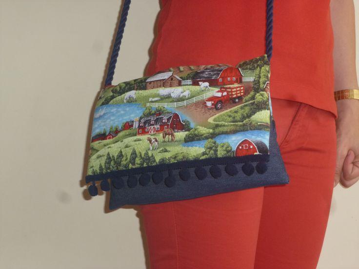 1000 images about my handmade bags querida clara on pinterest dibujo gray and canvases - Bolsos de tela hechos en casa ...