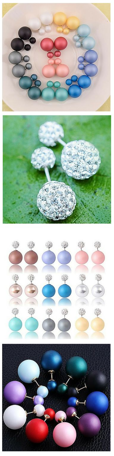 Get the most bling for your buck with double sided stud earrings! Wear them either way, with the large side in front OR in back! Click the image to find these ones!