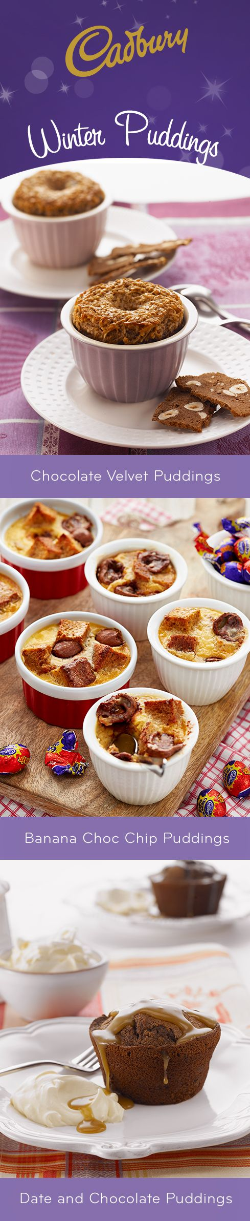 Somebody pass the spoon. The best respite from the cooler weather is a piping hot pudding! #bakeitcadbury #baking #chocolate #dessert #pudding