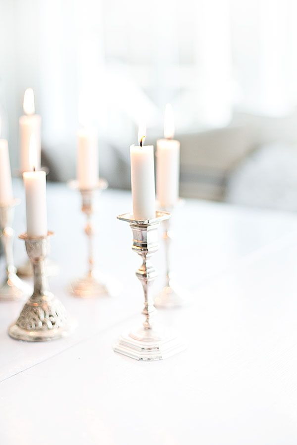 such lovely candles on silver//
