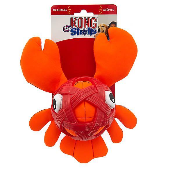 Kong Sea Shells Lobster Dog Toy Dog Interactive Toys