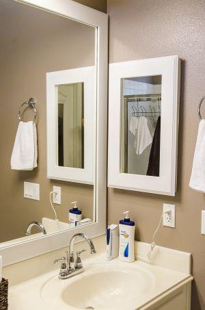 DIY - medicine cabinet makeover with a custom frame