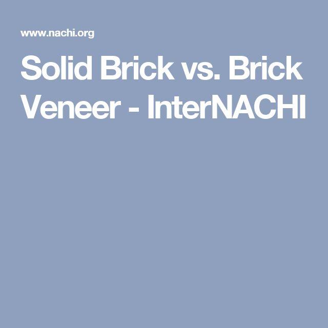Solid Brick vs. Brick Veneer - InterNACHI