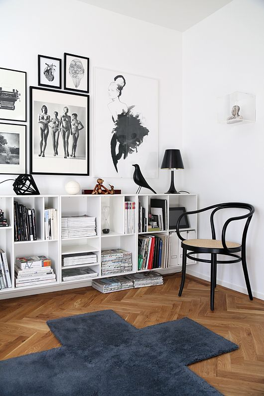 black and white wall gallery Trendenser -