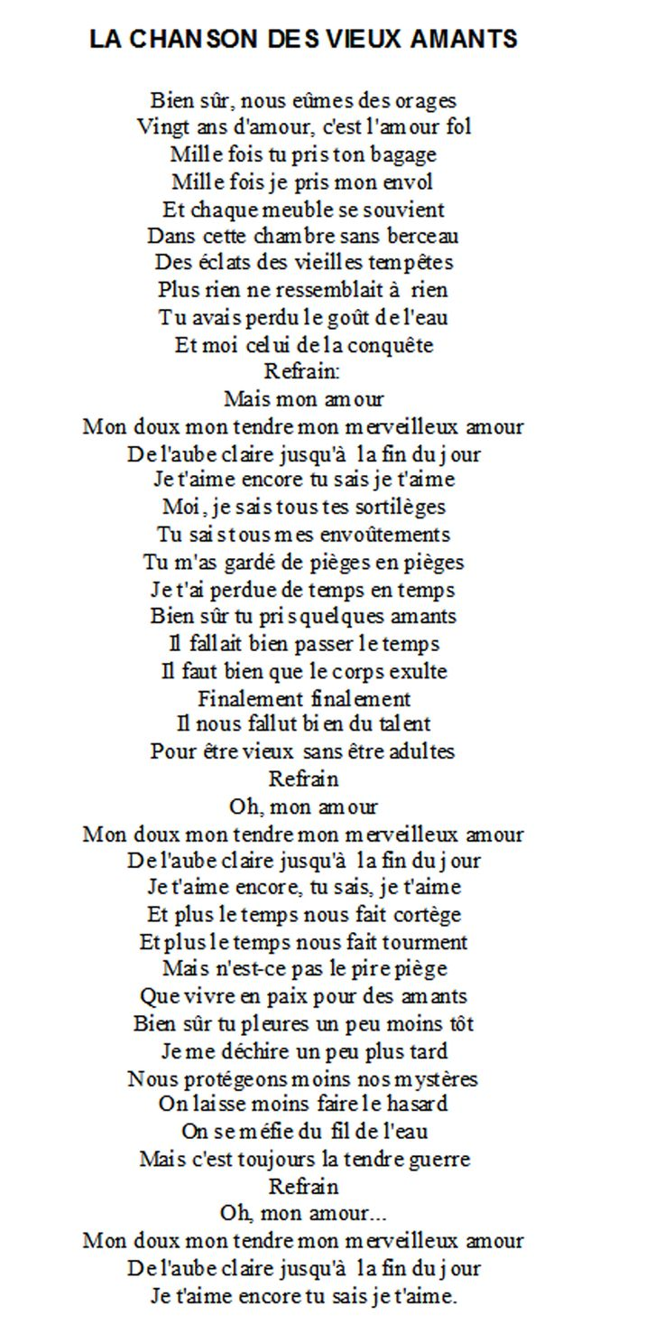 La chanson des vieux amants - Jacques Brel