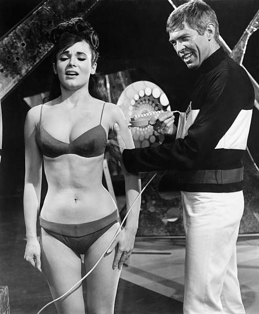 James Coburn and Gila Golan in a scene from the 1966 film Our Man Flint It was a James Bond spoof about a spy who takes on villains that want to take...