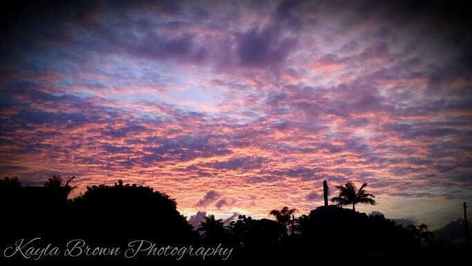 Morning Sunrise silhouette pink and purple clouds, love this   Kayla Brown Photography
