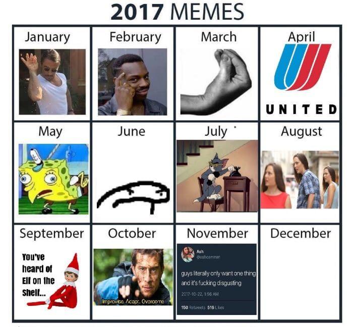 Remember when meme calendars were a thing. Pepperidge farm remembers.