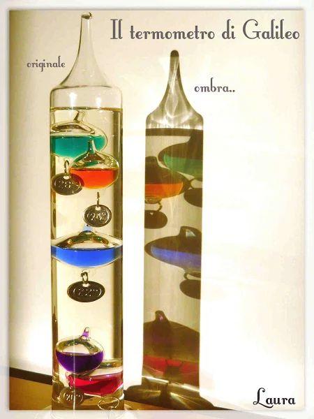 Laura R. - termometro di Galileo di vetro con particolari ombre colorate