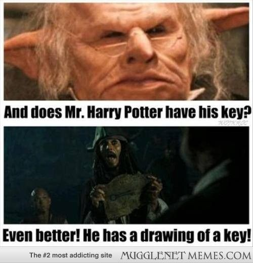 You need your key to get into your Gringotts vault.<<<NOBODY ASKED YOUR OPINION YOU FILTHY MUDBLOOD