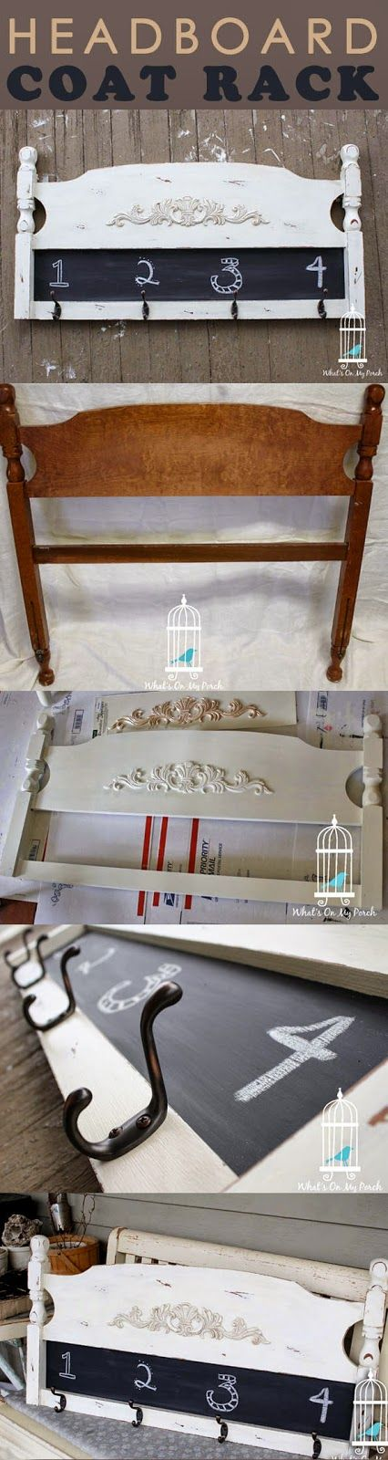 What's On My Porch: Headboard Coat Rack