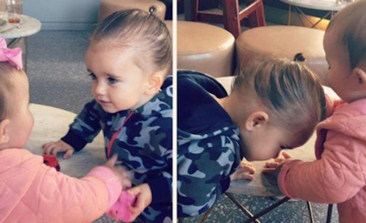 Xess Xava geeft eerste vriendinnetje een kus