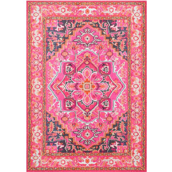 nuLOOM Pink Cordie Rug ($75) ❤ liked on Polyvore featuring home, rugs, pink area rug, olefin rugs, patterned rugs, nuloom rugs and polypropylene rugs