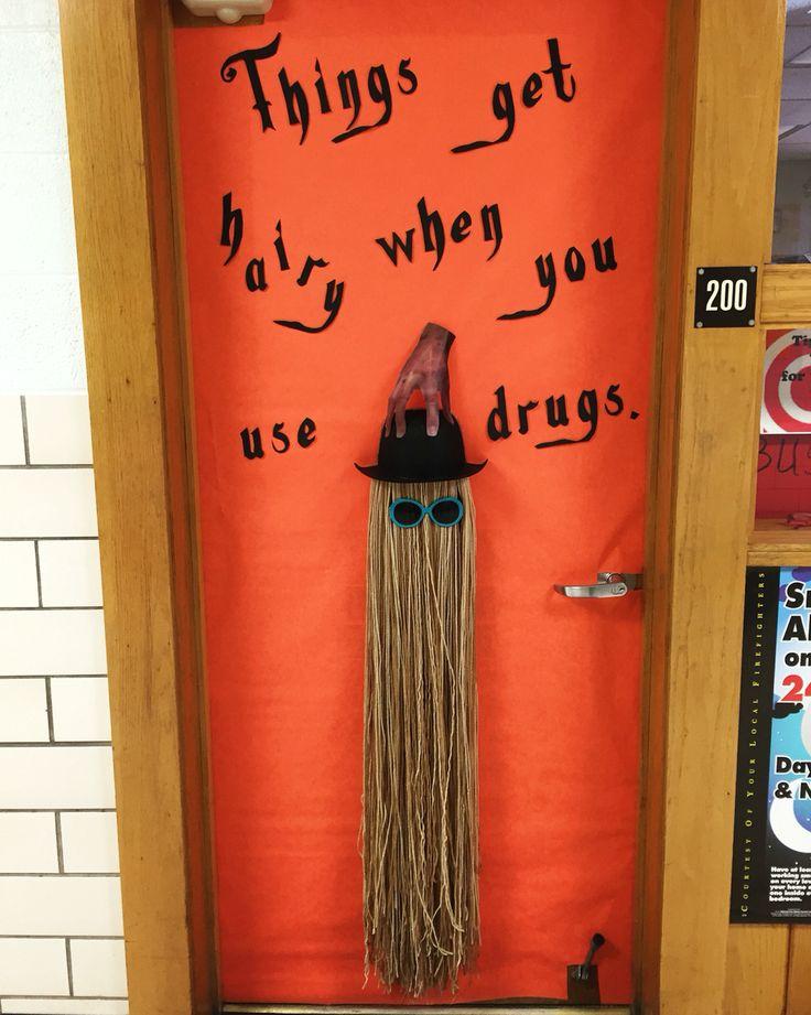 Bush Elementary\u0027s Red Ribbon Week/Halloween #doordec 2015! #AddamsFamily #doordecoration # & 11 best Bush School Door Decs images on Pinterest   Door decs ...