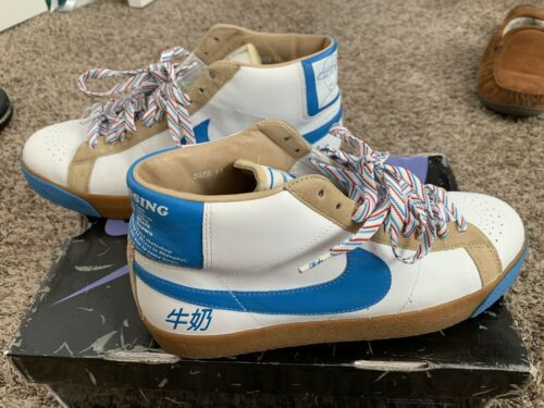 fashion styles on feet shots of arriving Details about Nike SB Blazer Vanilla Ice Size 11 Pre Owned ...
