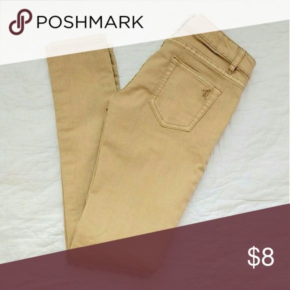 Khaki Skinny Jeans Khaki jeans. Fit like jeggings. Size 3/4. Worn only once. Jeans Straight Leg