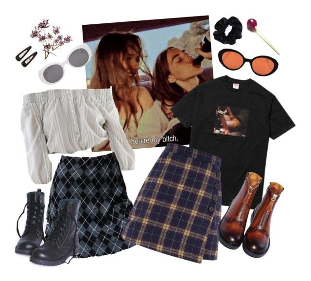 """""""summer of love 1"""" by silkwitch on Polyvore featuring Oliver Peoples, France Luxe, Dr. Martens and American Apparel"""