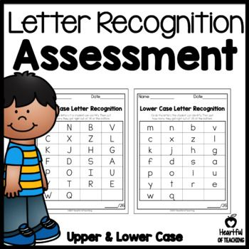 Letter Recognition Assessment Looking for a way to keep track of each student's letter recognition? With this download you will get a sheet to track your student's lower case letter recognition and a second sheet to track your student's upper case letter recognition. The best part is it's FREE! #letterrecognition #kindergarten #letters #assessment