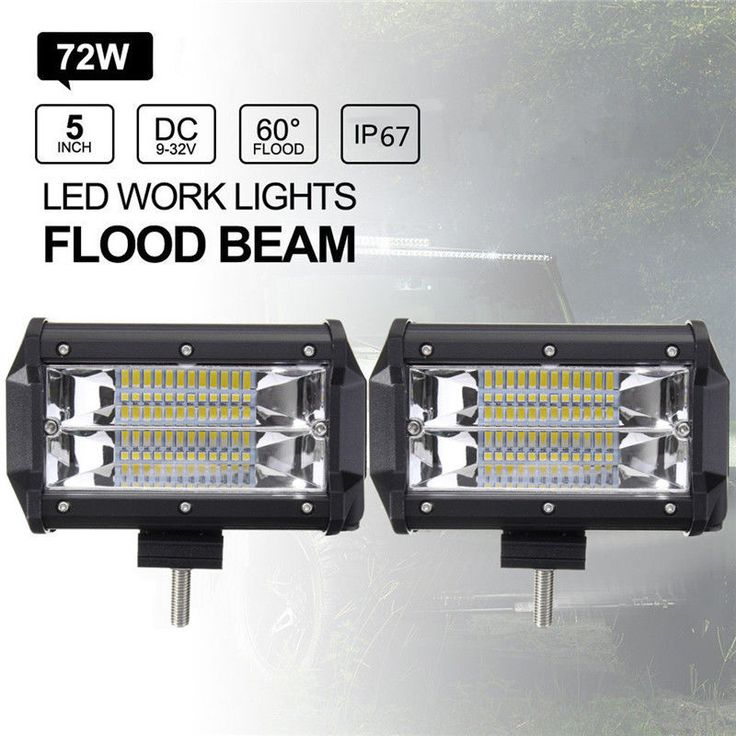 Spectacular  Inch W LED Work Light Bar Flood Driving Lamp Jeep Truck Boat Offroad Cool