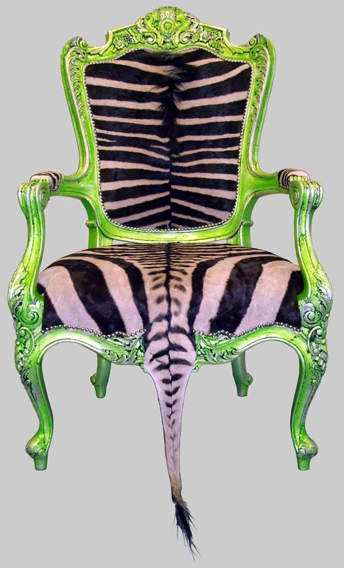 .Green, Zebras Chairs, Dreams House, Black White, Upholstered Chairs, Antiques Chairs, Animal Prints, Funky Furniture, Jimmy Martin
