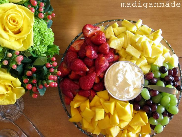 Orange Creamsicle Summer Fruit Dip... via Madigan Made