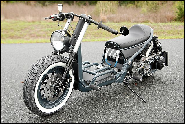 rukus modified | The Honda Ruckus Cafe Risque Custom Scooter | ScooterFile