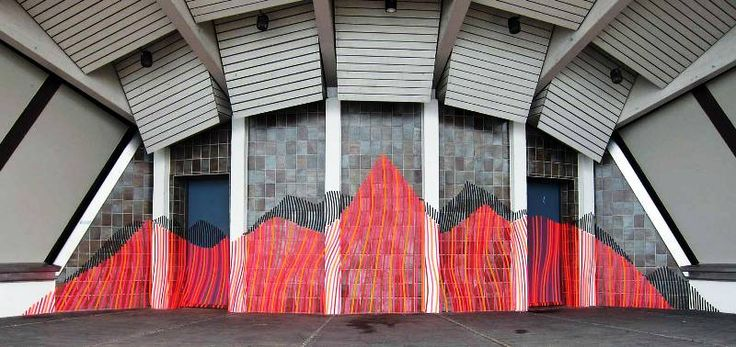 artist Buff Diss use duct tapes for his art creation