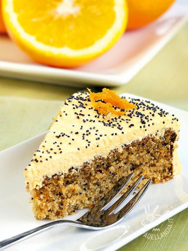 Almond cake with orange cream butter gluten-free - Ottima questa Torta di mandorle con crema al burro all'arancia! Quando all'aroma delle mandorle si unisce il profumo degli agrumi, il palato non resiste!