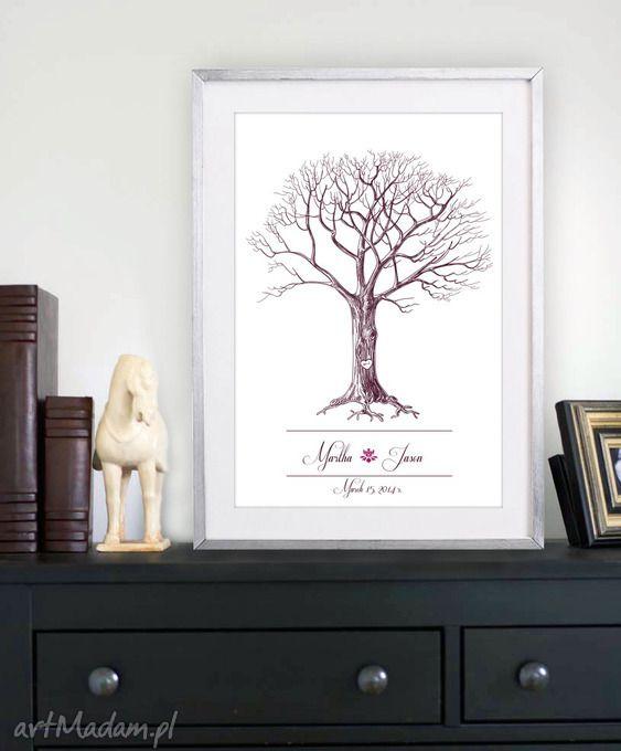 Nowy design drzewo wpisów gości weselnych księgi kreatywne wesele